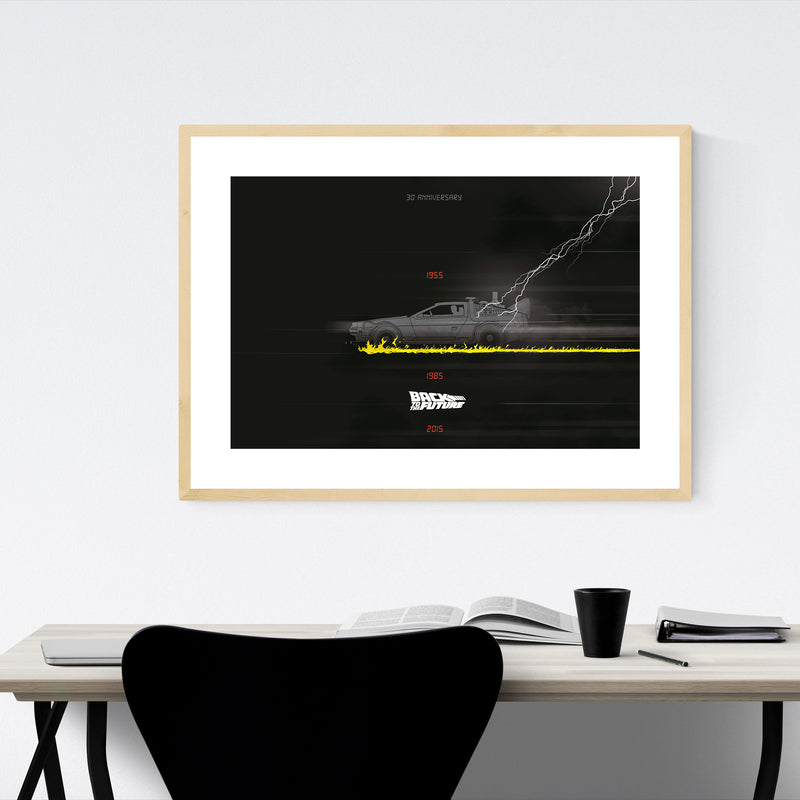 Back to the future movie poster Framed Art Print