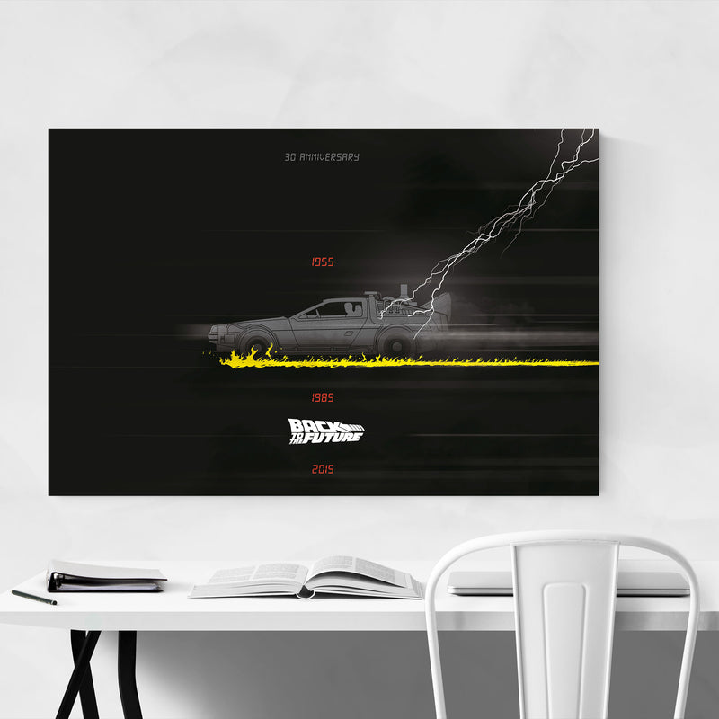 Back to the future movie poster Art Print