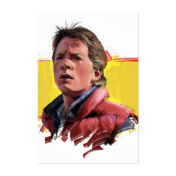 Marty McFly Back to the Future Art Print