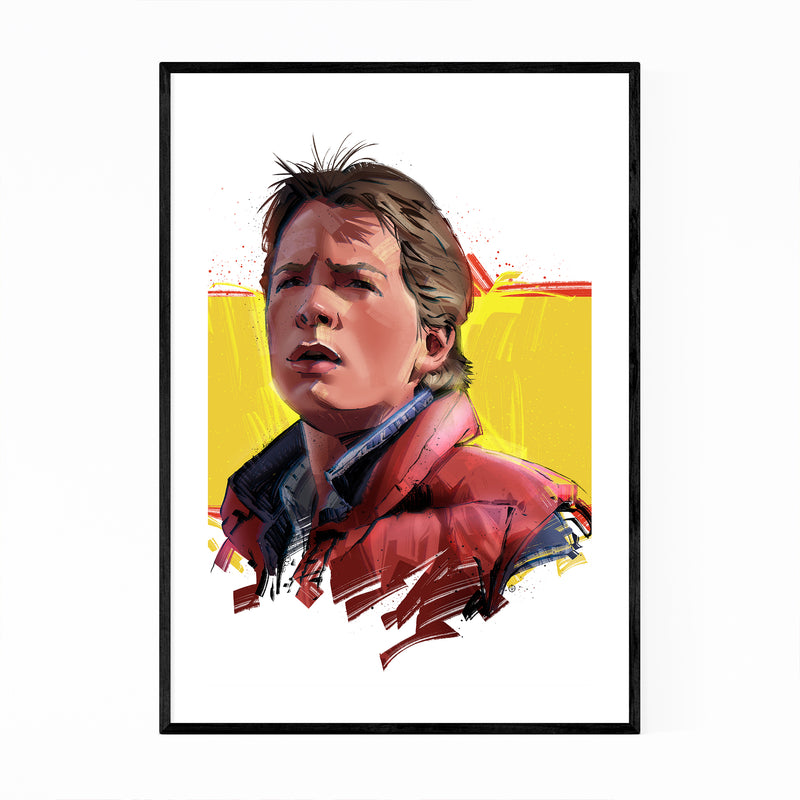 Marty McFly Back to the Future Framed Art Print