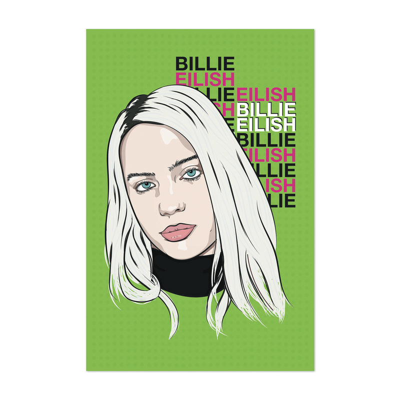 Billie Eilish Music Poster Art Print