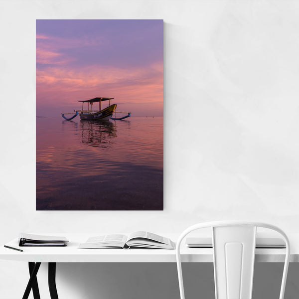 Bali Indonesia Boat Coastal Beach Art Print
