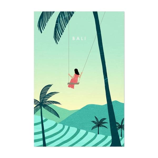 Bali Indonesia Vintage Travel Art Print