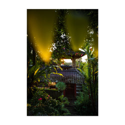 Jungle Hut Bali Indonesia Nature Art Print