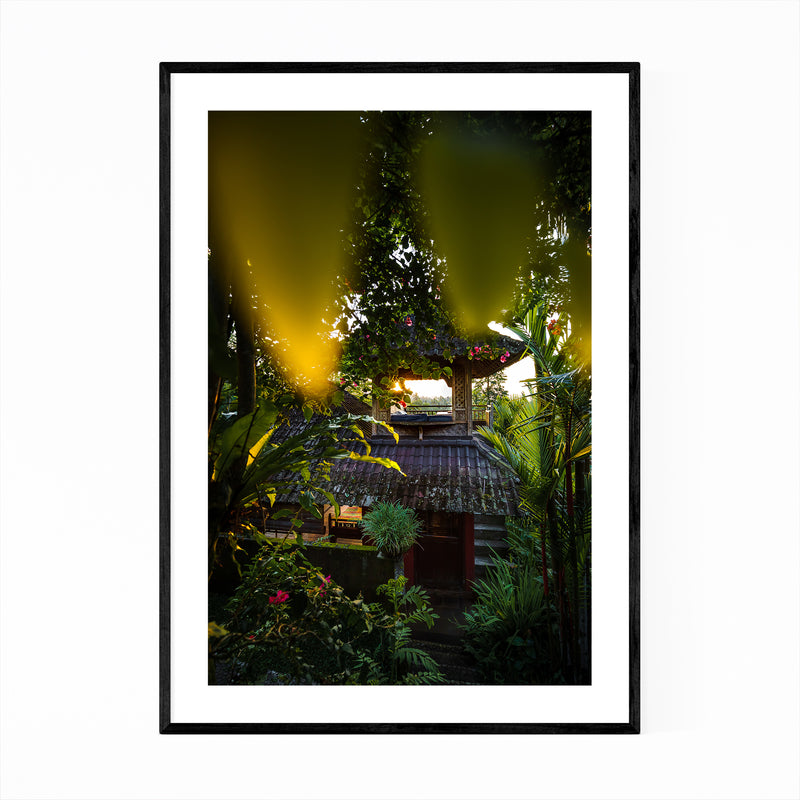 Jungle Hut Bali Indonesia Nature Framed Art Print