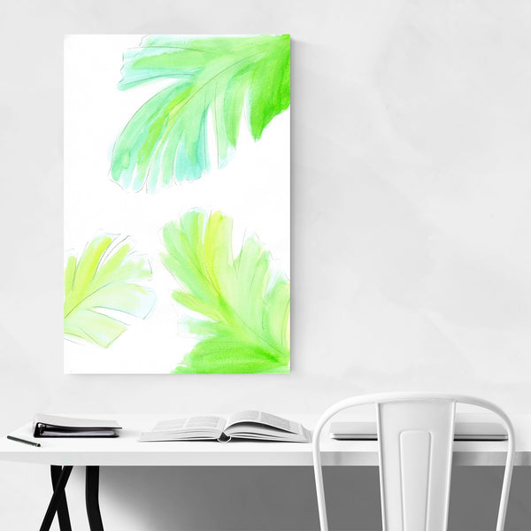 Banana Leaf Watercolor Botanical Art Print