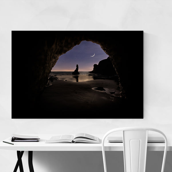 Crescent Moon Bandon Coast Art Print