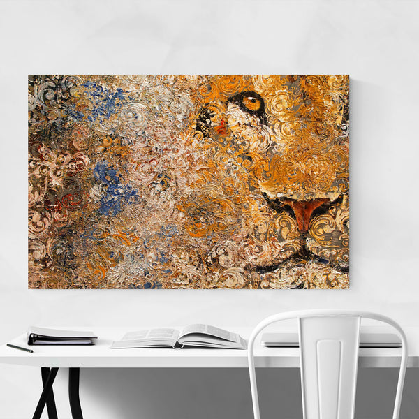 Barbary Lion Animal Portrait Art Print