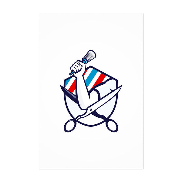 Barber Hairdresser Gift Retro Art Print