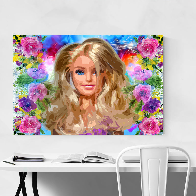 Barbie Pop Art Fashion Feminine Art Print