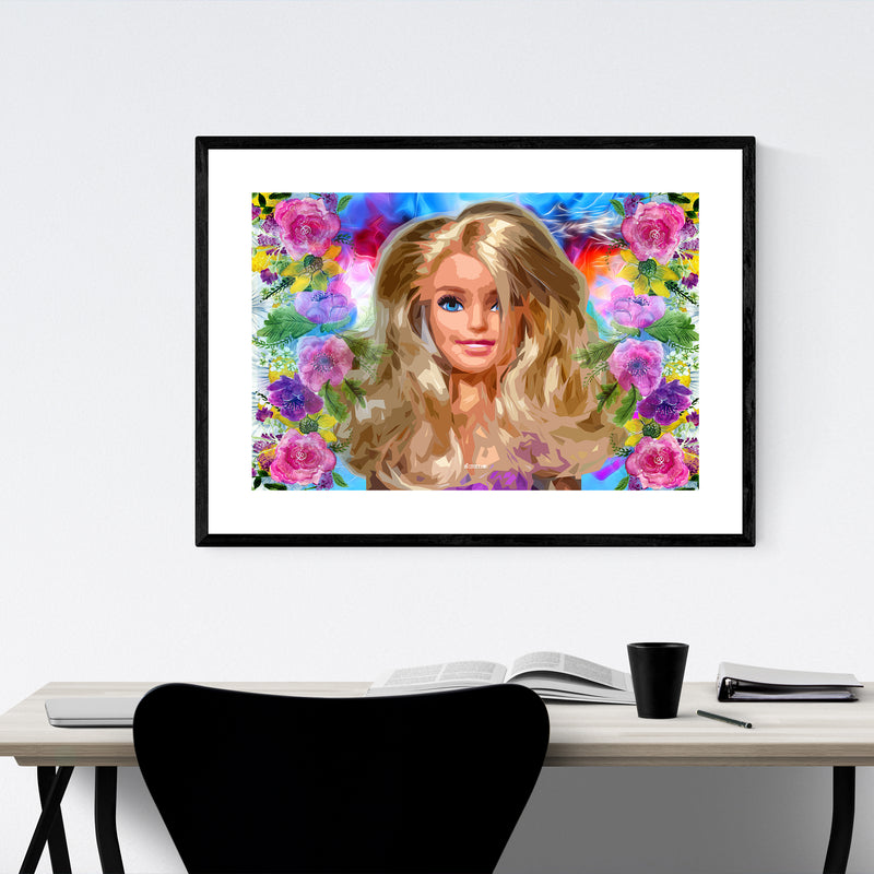 Barbie Pop Art Fashion Feminine Framed Art Print