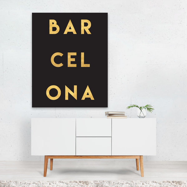 Barcelona Spain Urban Typography Art Print