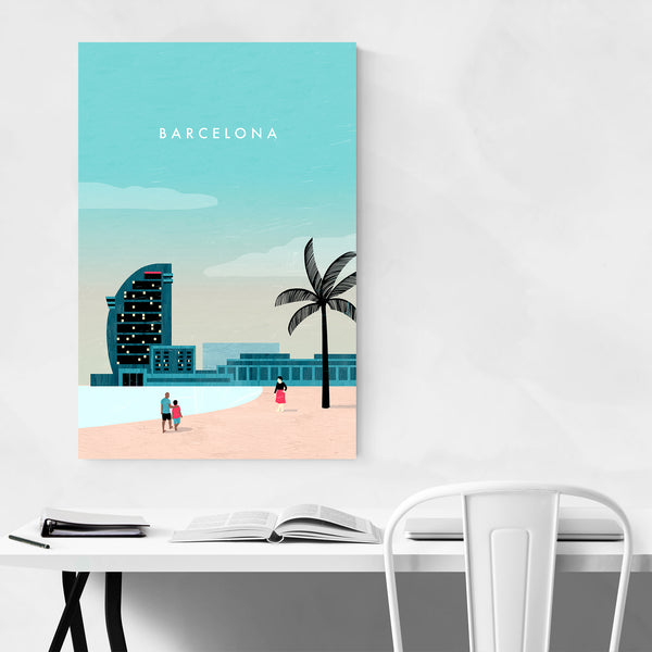 Barcelona Spain Vintage Travel Art Print