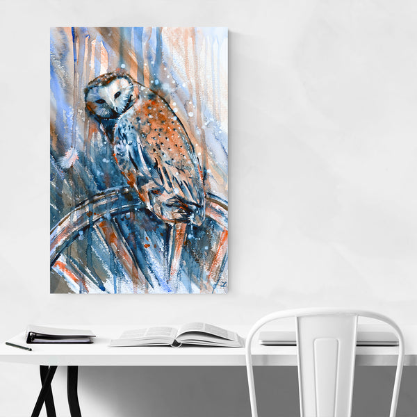 Alcohol Animal Birds Owl Painting Art Print