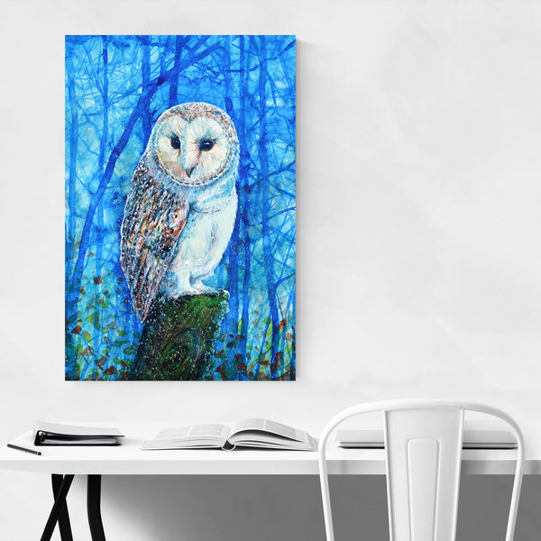 Animal Birds Owl Painting Art Print
