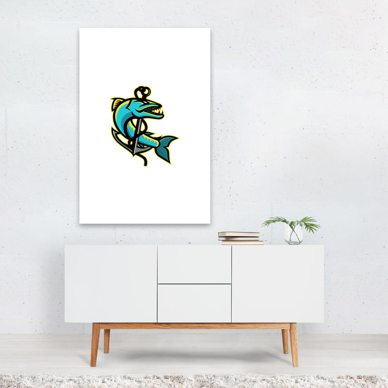 Barracuda and Anchor Mascot Art Print