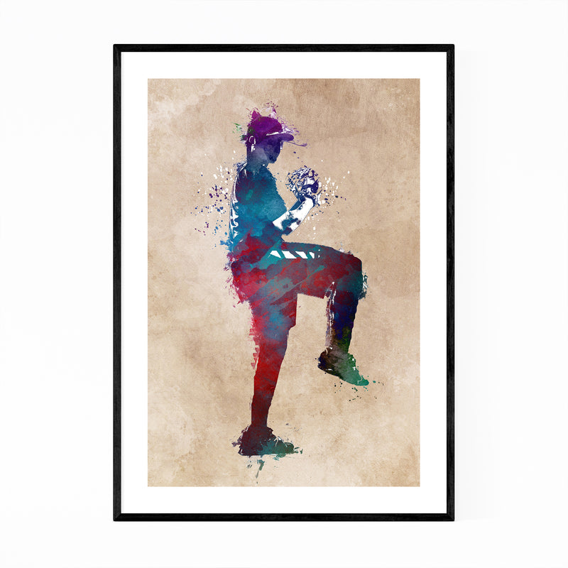 Baseball Player Gift Sports Framed Art Print
