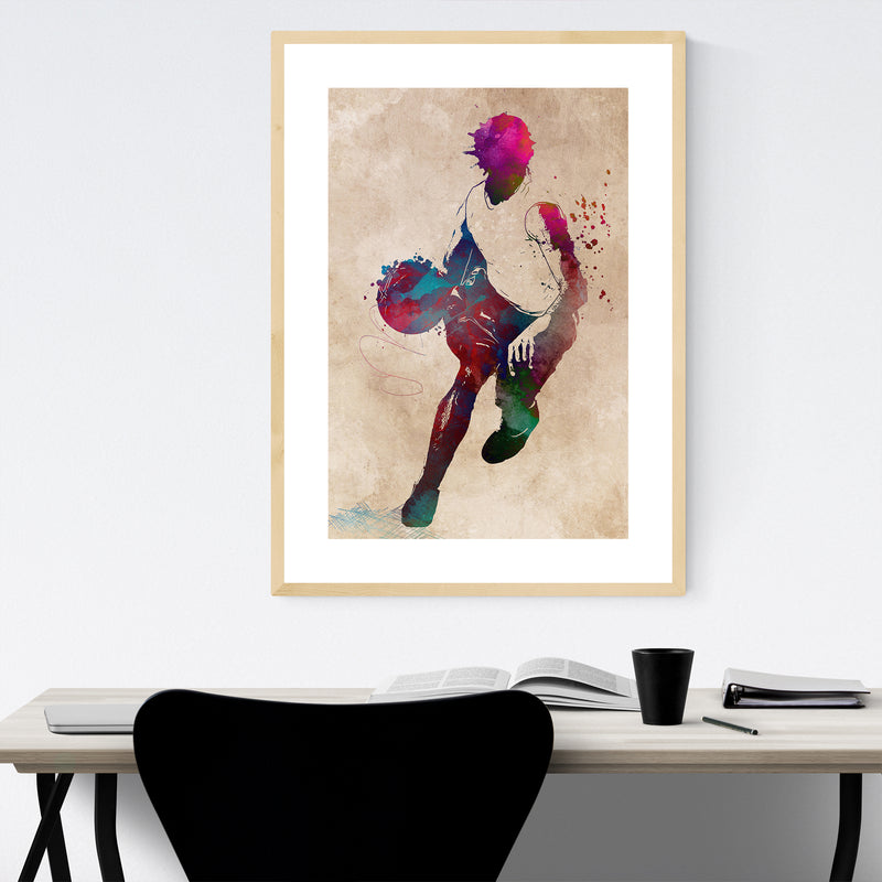 Basketball Player Gift Sports Framed Art Print