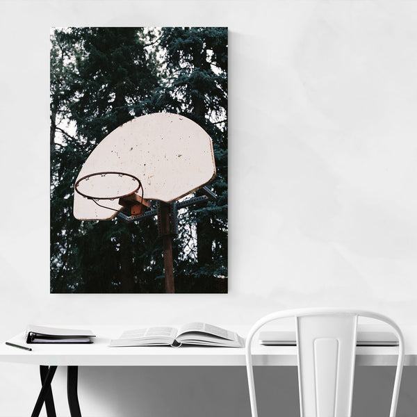 Abandoned Basketball Hoop Art Print