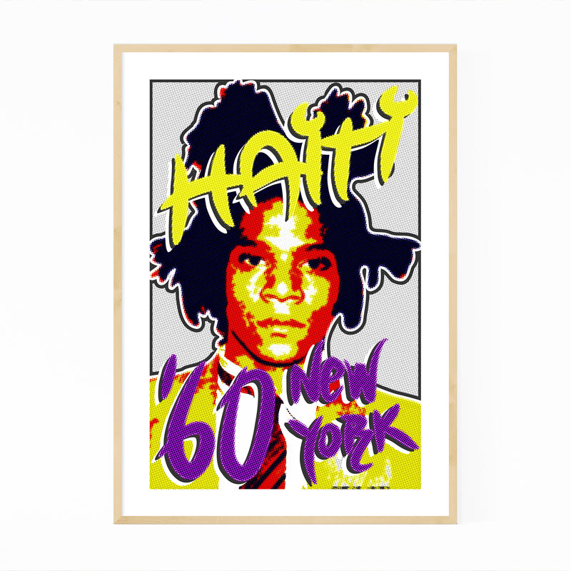 Basquiat Figurative Portrait Framed Art Print