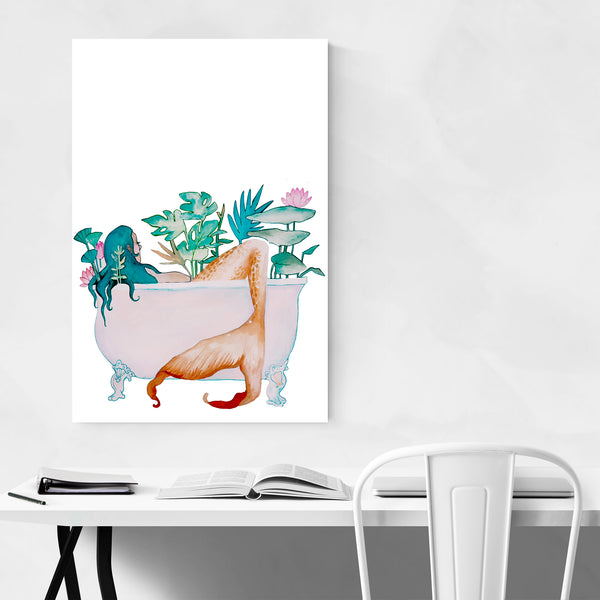 Mermaid Self Care Funny Humor Art Print