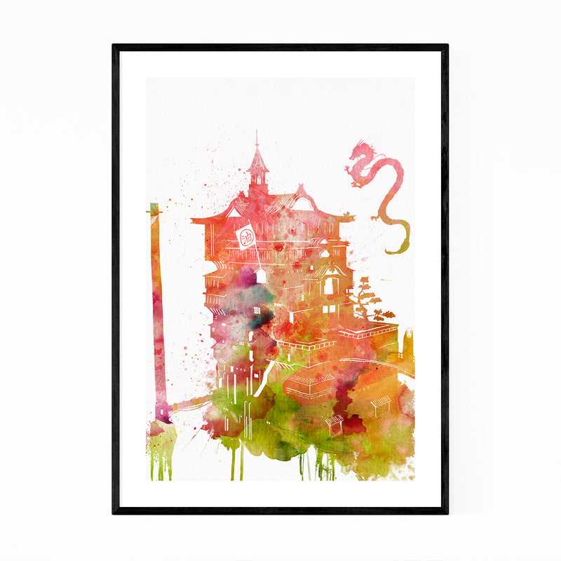Spirited Away Movie Painting Framed Art Print