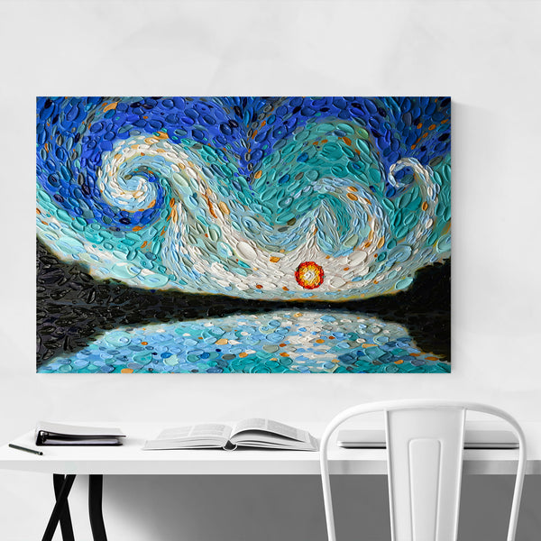 Abstract Blue Nature Sky Painting Art Print