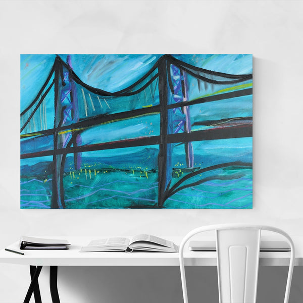 Maryland Bay Bridge Painting Art Print