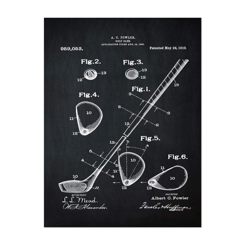 Patent Print Golf Sports Art Print
