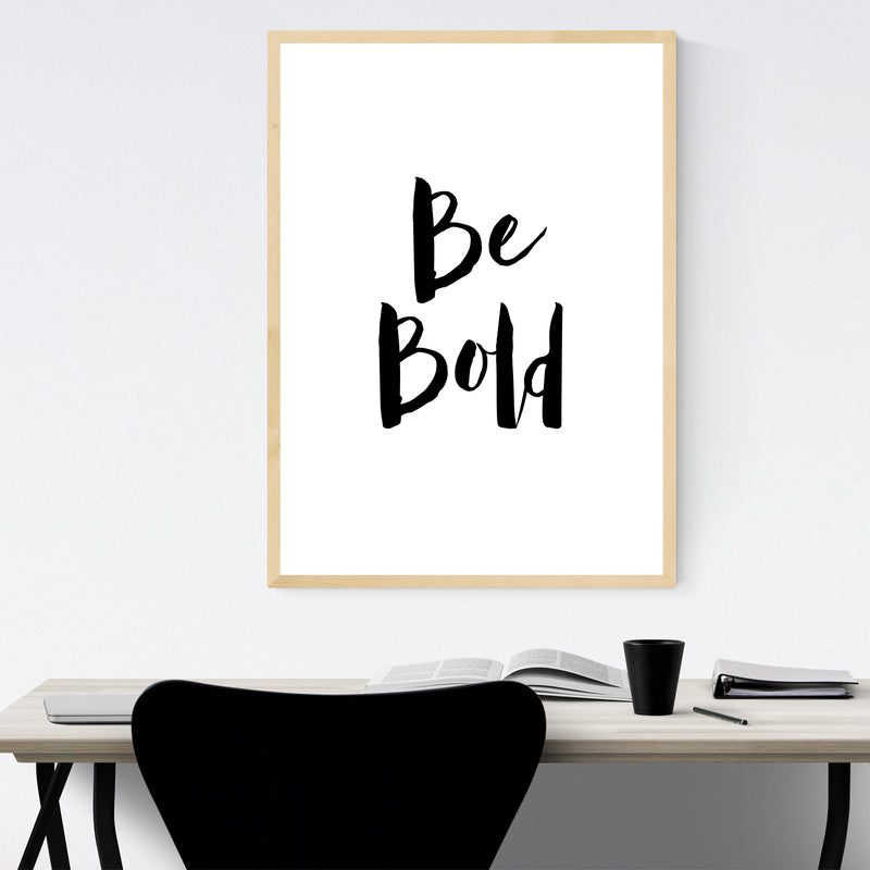 Inspirational Typography Quote Framed Art Print
