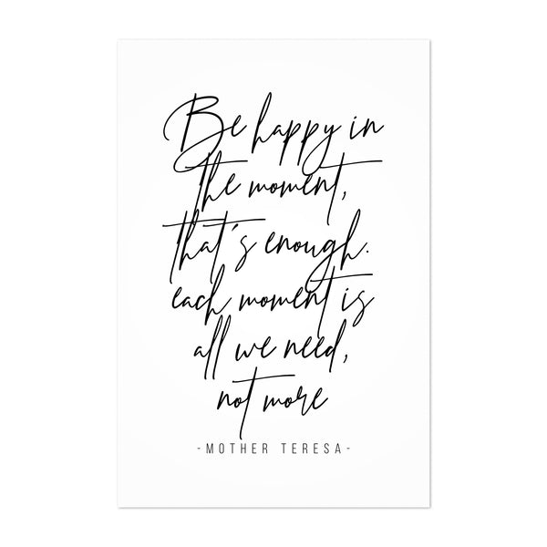 Mother Teresa Quote Typography Art Print