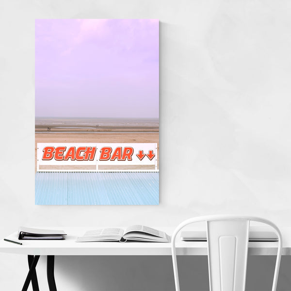 Beach Bar Sign Coastal Belgium Art Print