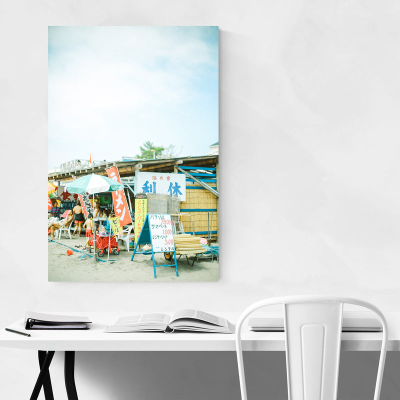 Zushi Kanagawa Japan Beach Metal Art Print
