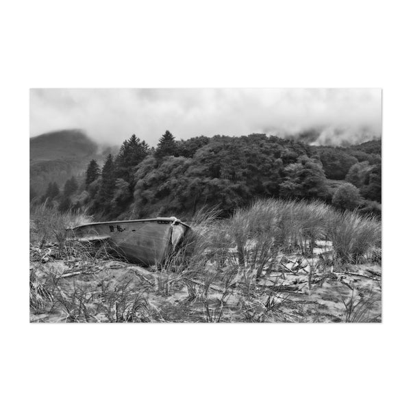 Otis Oregon Abandoned Rowboat Photo Art Print