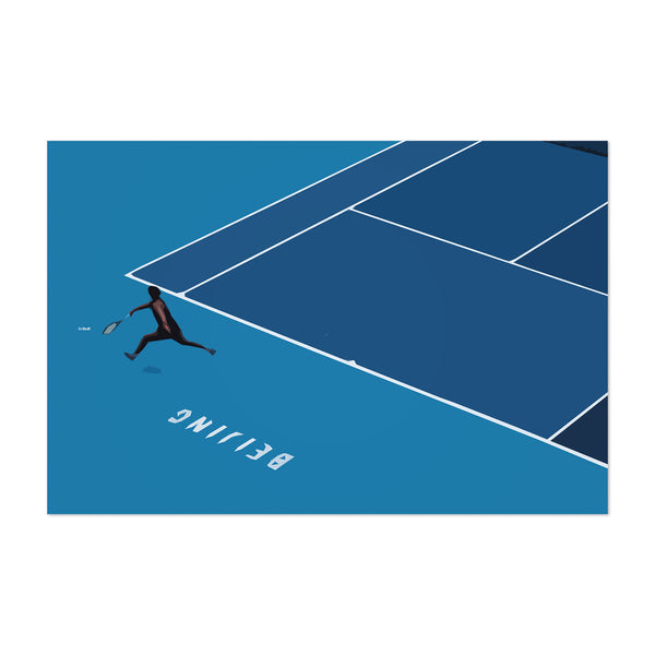 Bejing Minimal Tennis Sports Art Print