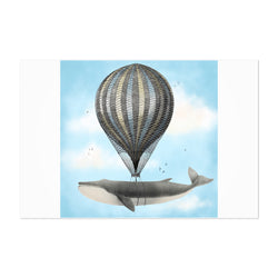 Whale Hot Air Balloon Funny Art Print