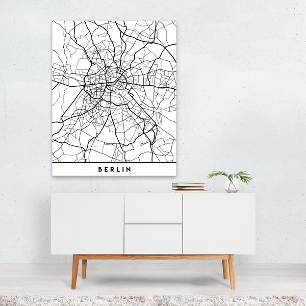 Berlin Germany Urban Map Art Print