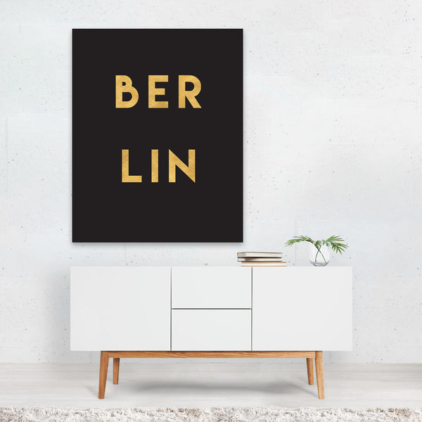 Berlin Germany Urban Typography Art Print