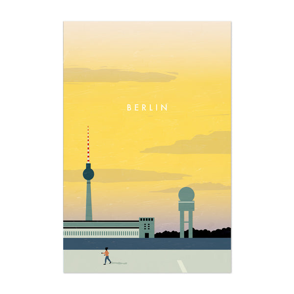 Berlin Germany Vintage Travel Art Print