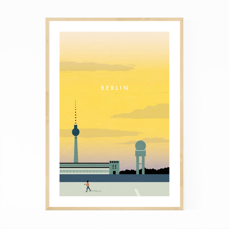 Berlin Germany Vintage Travel Framed Art Print