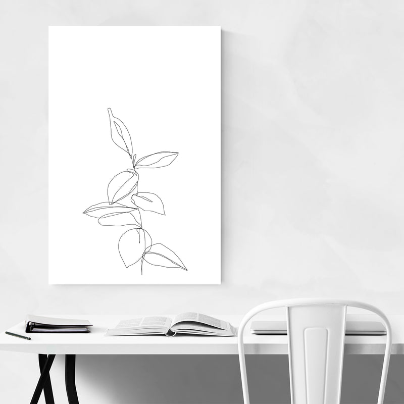 Floral Minimal Line Drawing Art Print