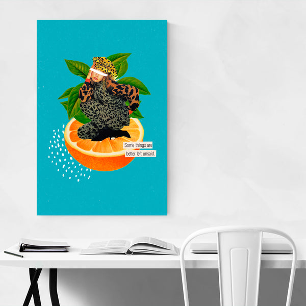 Feminine Quote Orange Fruit Kitchen Art Print