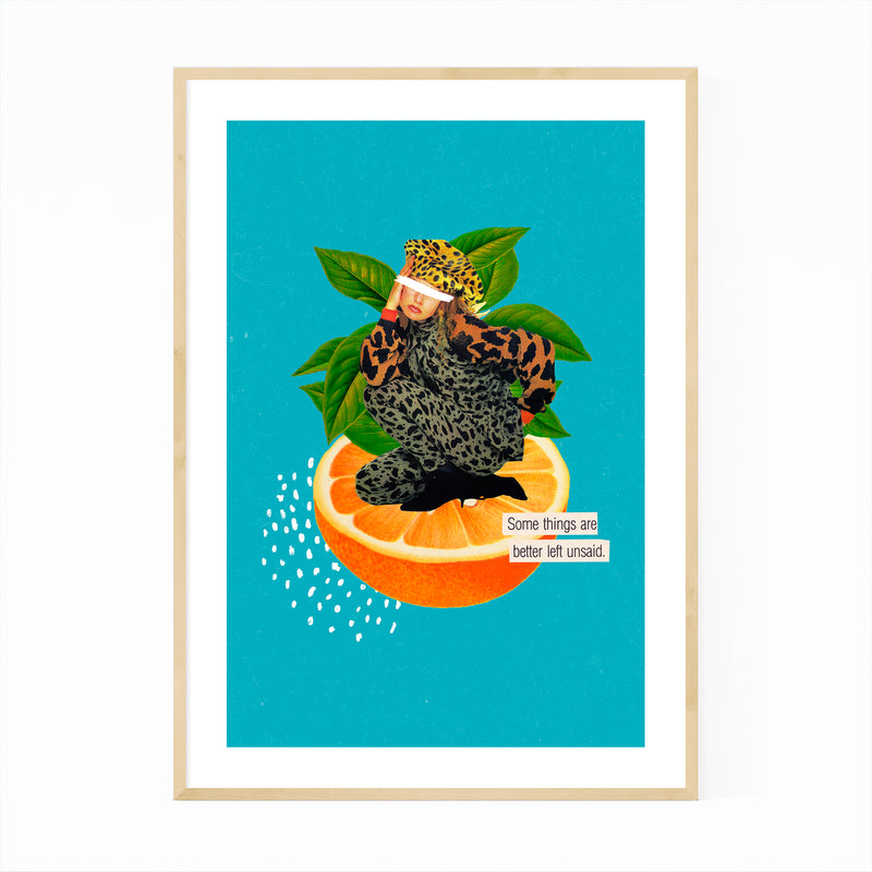 Feminine Quote Orange Fruit Kitchen Framed Art Print