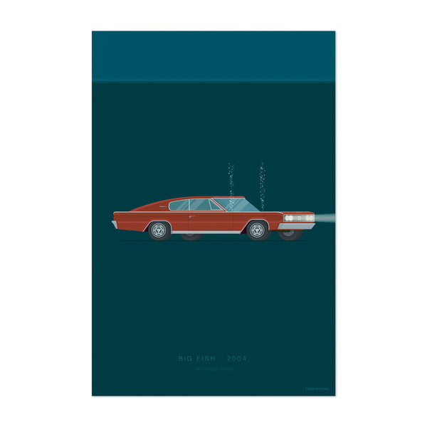 Big Fish Cars Movie TV Illustration Art Print