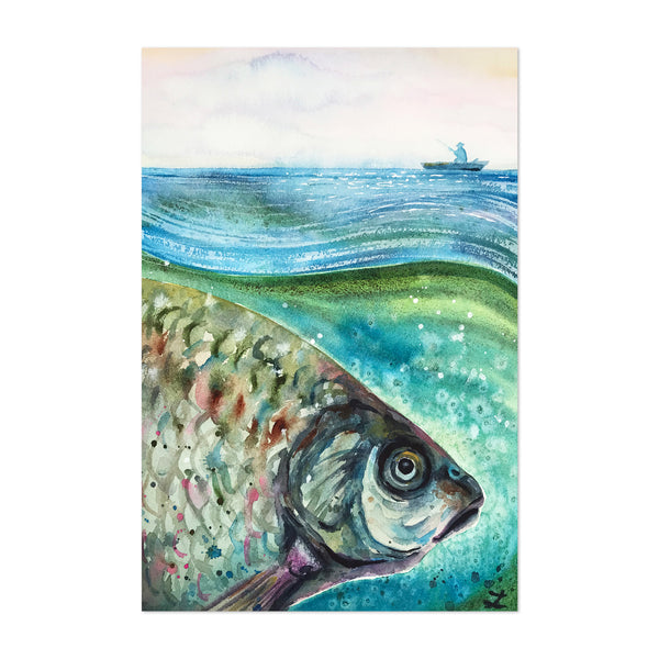 Animal Fish Painting Art Print