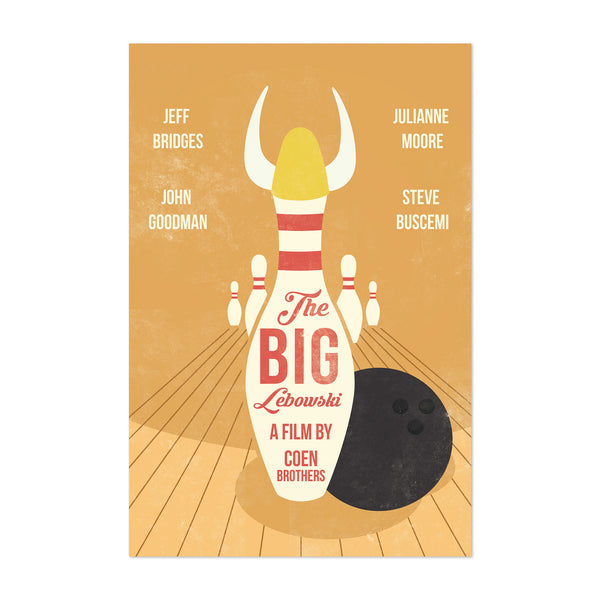 Big Lebowski movie poster Art Print