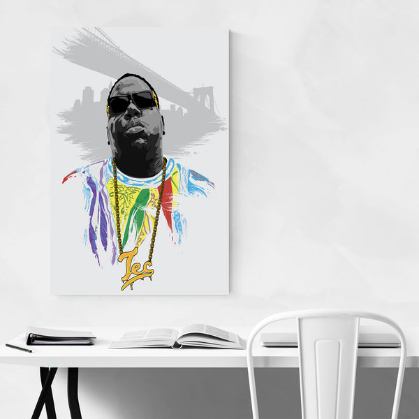 Notorious BIG Portrait Rap Music Art Print