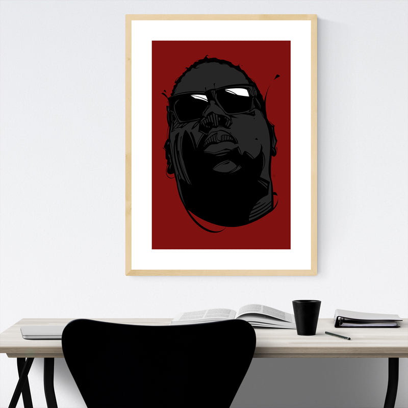 The Notorious BIG Rappers Framed Art Print