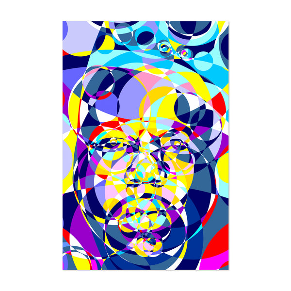 Notorious BIG Abstract Illustration Art Print
