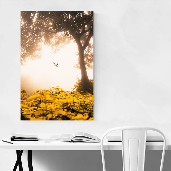 Bird Floral Botanical Tree Nature Art Print